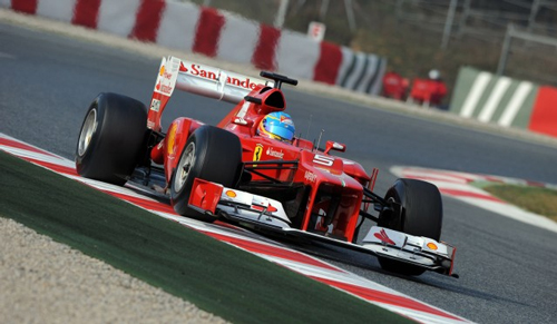 Alonso might not be enthusiastic about the new nose, but Ferrari looks hopeful this year