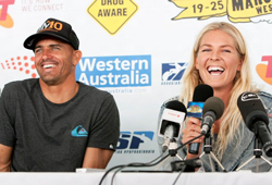 Kelly Slater and past champions progress to round 48 of at Telstra Drug Aware Pro Margaret River